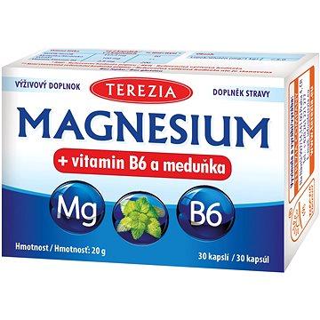 TEREZIA MAGNESIUM + vitamin B6 a meduňka 30 kapslí - Hořčík