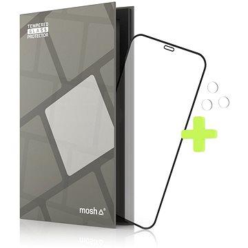 Tempered Glass Protector Rámečkové pro iPhone 12 Pro Max, Černé + sklo na kameru - Ochranné sklo