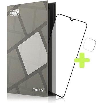 Tempered Glass Protector Rámečkové pro Samsung Galaxy A12/ M12 , Černé + sklo na kameru - Ochranné sklo