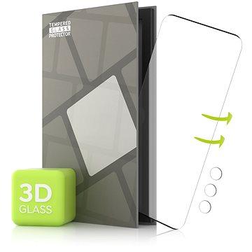 Tempered Glass Protector pro Samsung Galaxy S21 Ultra - 3D GLASS, Černé + sklo na kameru - Ochranné sklo