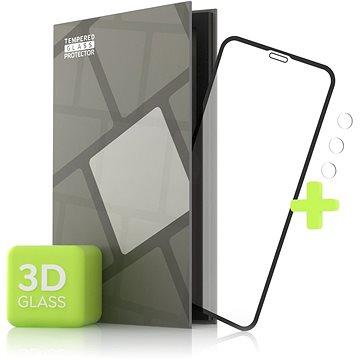 Tempered Glass Protector pro iPhone 11 Pro Max - 3D Case Friendly, Černé + sklo na kameru - Ochranné sklo