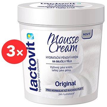 LACTOVIT Orginal Mousse Cream 3 × 250 ml - Tělový krém