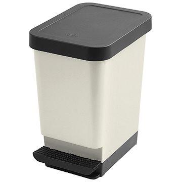 Tontarelli Nášlapný koš MODA 25L černá transparentní - Odpadkový koš