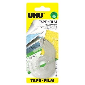 UHU Tape 7,5 m x 19 mm - odvíječ - čirá lepicí páska - Lepicí páska