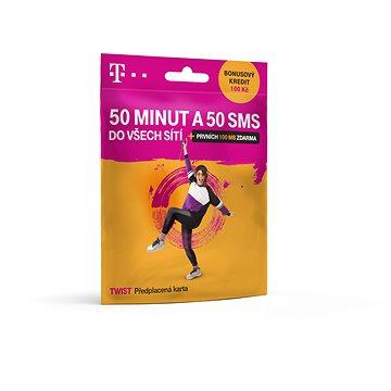 Předplacená karta Twist 50 minut A 50 SMS - SIM karta