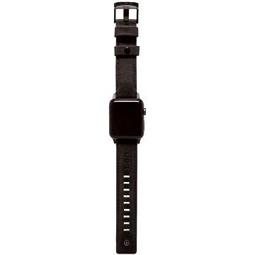 UAG Leather Strap Black Apple Watch 6/SE/5/4/3/2/1 44/42mm - Řemínek
