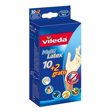 VILEDA Multi Latex 10+2 S/M - Pracovní rukavice