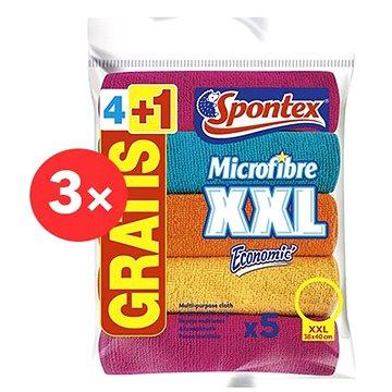 SPONTEX Microfibre Economic XXL 38 × 40 cm (15 ks) - Hadřík