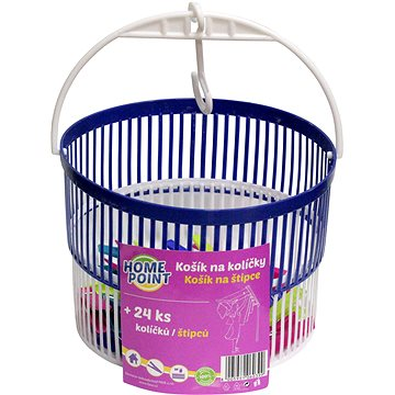 HOMEPOINT Košík s kolíčky 24 ks - Kolíky