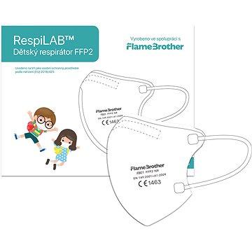 RespiLAB Dětský Respirátor FFP2 NR, 10ks (Bílý) - Respirátor