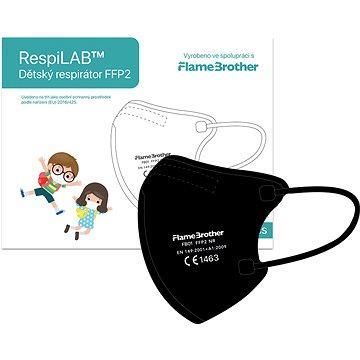 RespiLAB Dětský Respirátor FFP2 NR, 10ks (Černý) - Respirátor