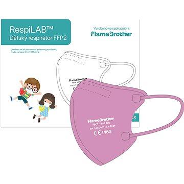 RespiLAB Dětský Respirátor FFP2 NR, 10ks (Růžový) - Respirátor