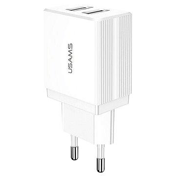 USAMS US-CC090 T24 Dual USB Travel Charger 10.5W white - Nabíječka do sítě