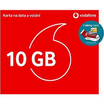 Vodafone datová karta - 10 GB dat + kecka + ponožky - SIM karta