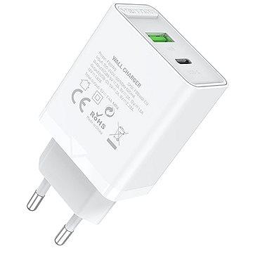 Vention 2-Port USB (A+C) Wall Charger (18W + 20W PD) White - Nabíječka do sítě
