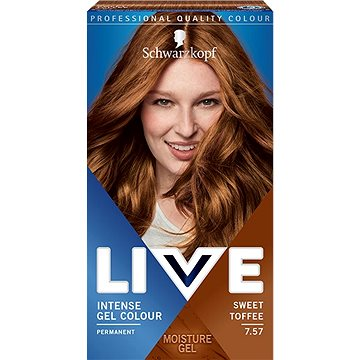 SCHWARZKOPF LIVE Intense Gel Colour 7.57 Sladce karamelová 60 ml - Barva na vlasy