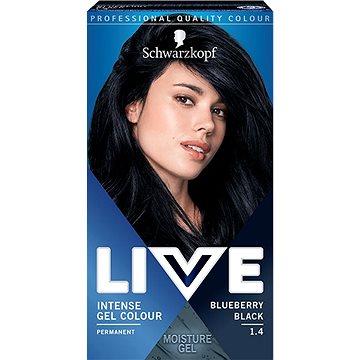 SCHWARZKOPF LIVE Intense Gel Colour 1.4 Borůvkově černá 60 ml - Barva na vlasy