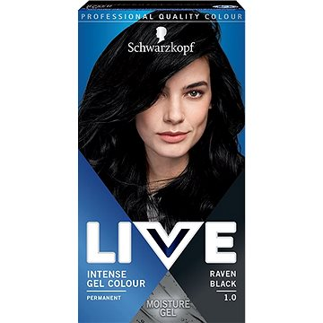 SCHWARZKOPF LIVE Intense Gel Colour 1.0 Havraní černá 60 ml - Barva na vlasy