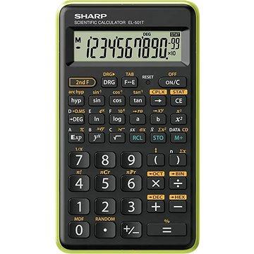 Sharp SH-EL501TBGR černo/zelená - Kalkulačka
