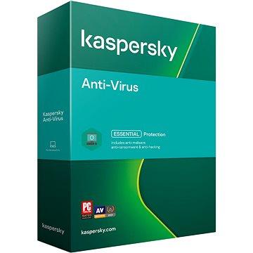 Kaspersky Anti-Virus pro 3 PC na 12 měsíců, nová (BOX) - Antivirus