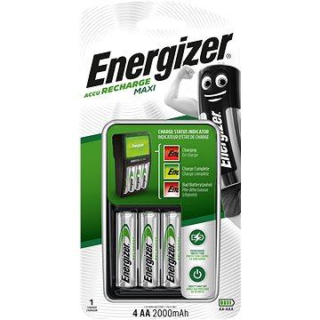 Energizer MAXI charger + 4x AA 2000mAh NiMH - Nabíječka baterií