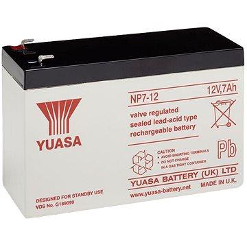 YUASA 12V 7Ah bezúdržbová olověná baterie NP7-12, faston 4,7 mm - Nabíjecí baterie