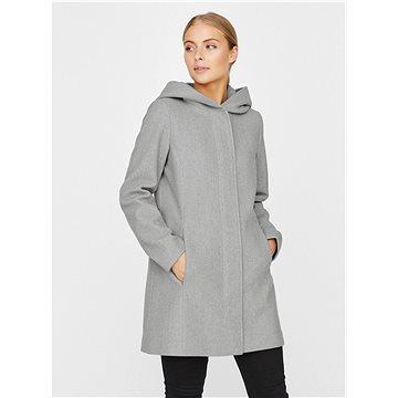 VERO MODA Šedý kabát s kapucí Dafne L - Bunda