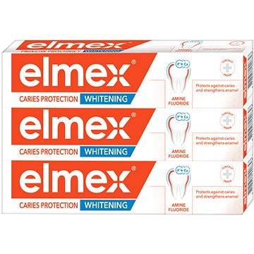 ELMEX Caries Protection Whitening 3 × 75 ml - Zubní pasta