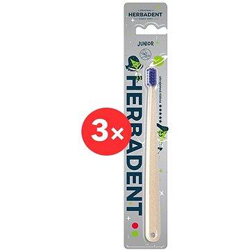 HERBADENT Junior Ultra soft 3 ks - Zubní kartáček