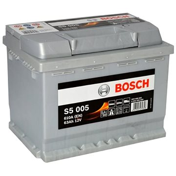 BOSCH S5 005, 63Ah, 12V (0 092 S50 050) - Autobaterie
