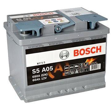 BOSCH S5A 050, 60Ah, 12V, AGM (0 092 S5A 050) - Autobaterie