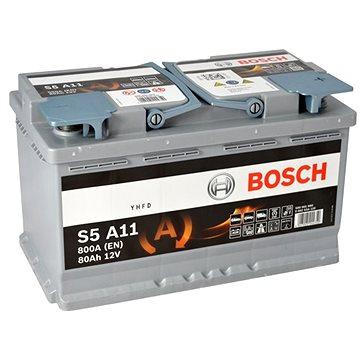 BOSCH S5A 110, 80Ah, 12V, AGM (0 092 S5A 110) - Autobaterie