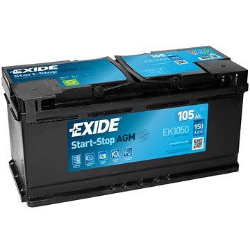 EXIDE START-STOP AGM 105Ah, 12V, EK1050 - Autobaterie