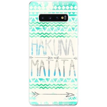 iSaprio Hakuna Matata Green pro Samsung Galaxy S10+ - Kryt na mobil