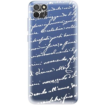 iSaprio Handwriting 01 White pro Honor 9S - Kryt na mobil