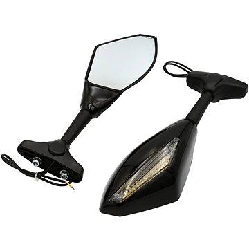 Rave sport 085 zrcátka s integrovanými blinkry - Zrcátko na motorku