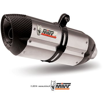 Mivv Suono Stainless Steel / Carbon Cap pro Honda CB 500 F / X (2013 > 2015) - Koncovka výfuku