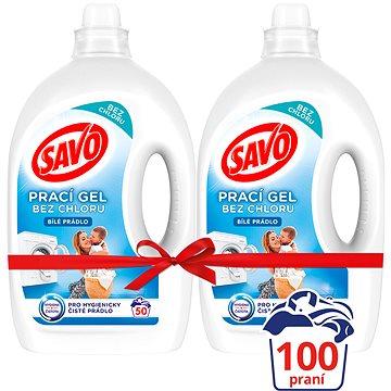 SAVO Bílé prádlo 2× 2,5 l (100 praní) - Prací gel