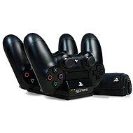 4Gamers Twin Charging Dock Black + microfiber cloth - PS4