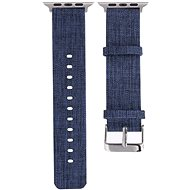 Eternico Apple Watch 42mm / 44mm Canvas Band modrý - Řemínek