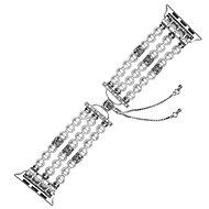 Eternico Apple Watch 38mm / 40mm Pearl Bracelet bílý - Řemínek