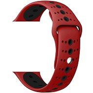 Eternico 38mm / 40mm / 41mm Silicone Polkadot Band červeno černý pro Apple Watch - Řemínek