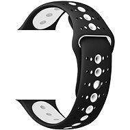 Eternico 42mm / 44mm / 45mm Silicone Polkadot Band černo bílý pro Apple Watch - Řemínek