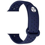 Eternico Apple Watch 38mm / 40mm Silicone Band tmavě modrý - Řemínek
