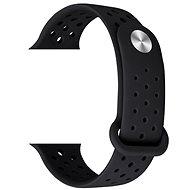 Eternico Apple Watch 38mm / 40mm Silicone Band černý - Řemínek