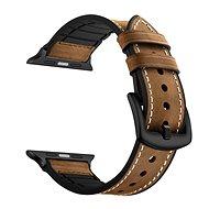 Eternico Apple Watch 38mm / 40mm Leather and Silicone Band hnědý - Řemínek