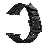 Eternico Apple Watch 38mm / 40mm Leather and Silicone Band černý - Řemínek