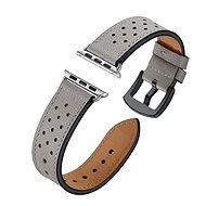 Eternico 38mm / 40mm Leather Band šedý pro Apple Watch - Řemínek