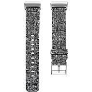 Eternico Canvas šedý (Large) pro Fitbit Charge 3 / 4 - Řemínek