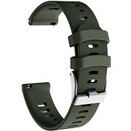 Řemínek Eternico Silicone Band Steel Buckle zelený pro Garmin Quick Release 20